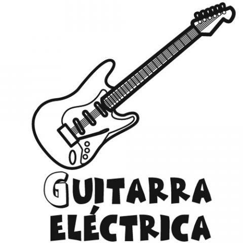 Dibujos gratis de una guitarra eléctrica para pintar con niños