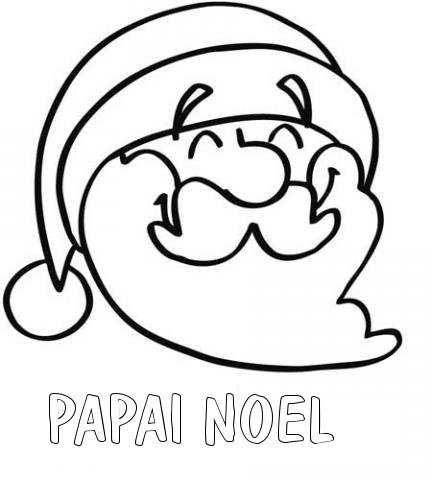 Desenho Para Pintar De Papai Noel Sorridente