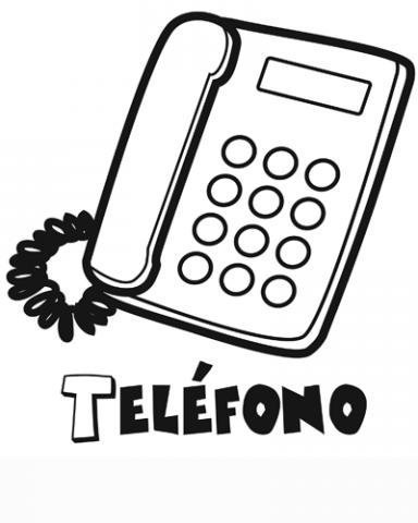 Dibujo de un teléfono para colorear con los niños