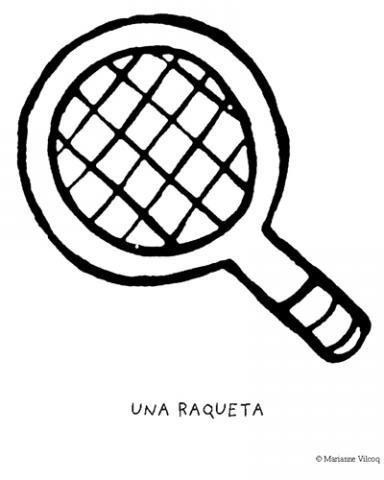 Dibujo De Una Raqueta De Tenis Objetos Deportivos Para Pintar