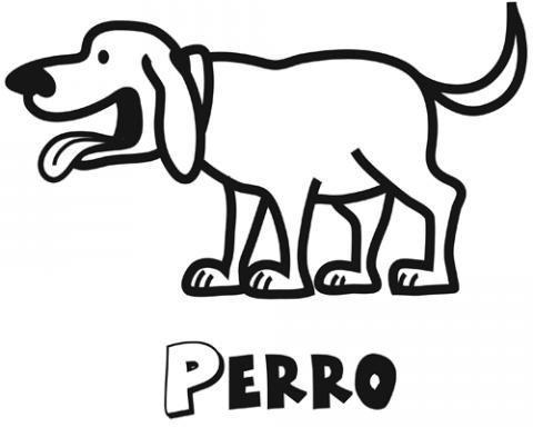 Dibujo gratis de un perro para colorear. Imágenes de animales