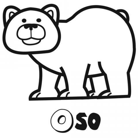 Dibujo de oso para imprimir y colorear con los niños