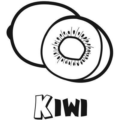 Dibujos infantiles de kiwi para colorear