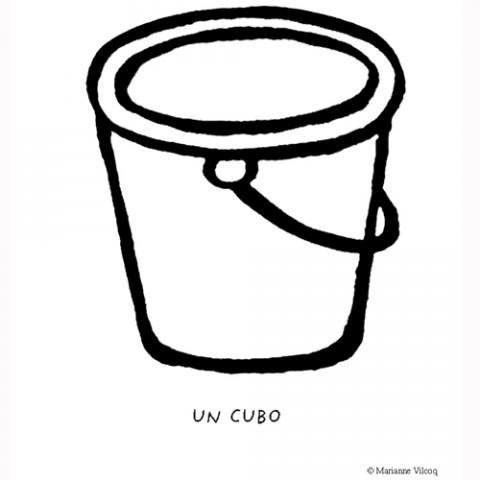 Dibujos infantiles de un cubo para colorear con los niños