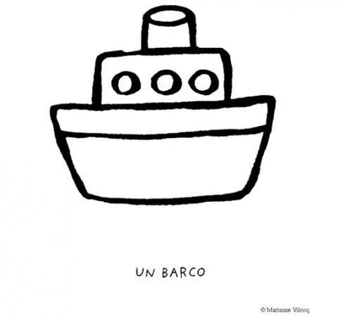 Desenho de um barquinho para imprimir