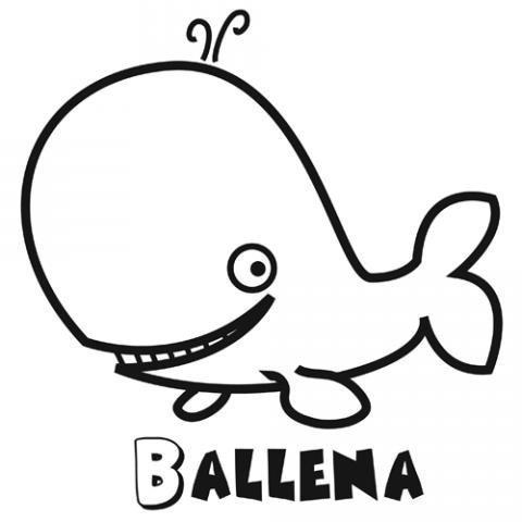 Dibujos De Una Ballena Para Colorear Dibujos De Animales Para Niños