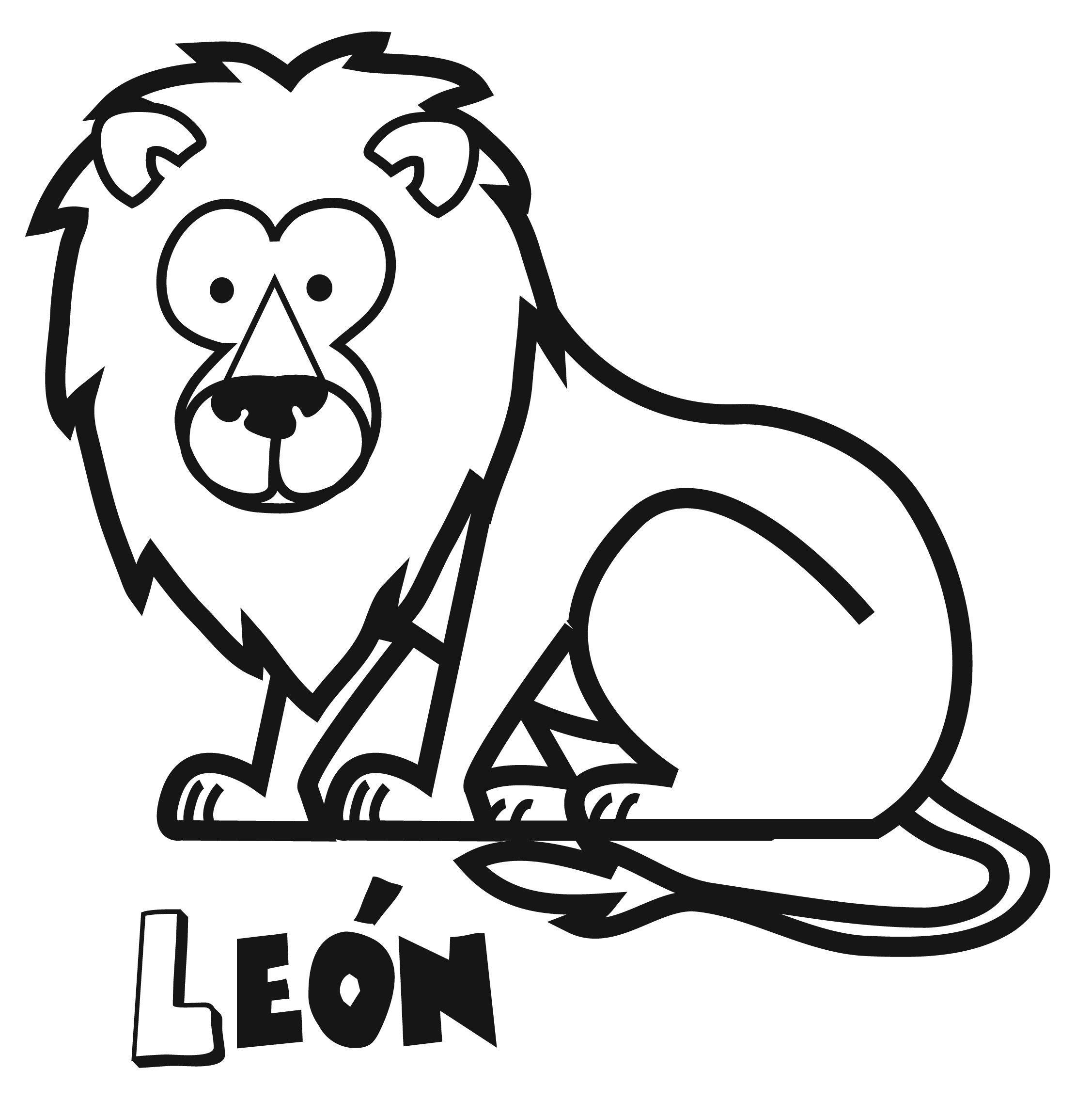 Dibujos de león para imprimir y colorear. Dibujos de animales