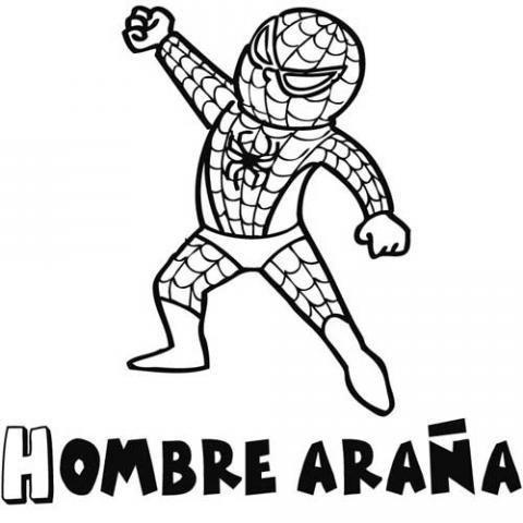 Dibujos de spiderman para colorear por los niños