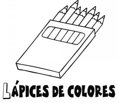Dibujo gratis de lápices de colores. Dibujos del colegio para colorear