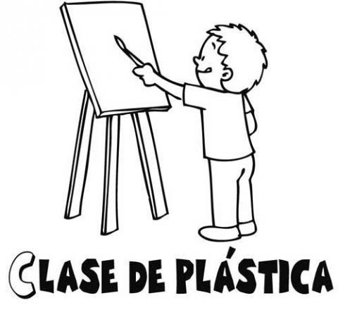 Dibujos para colorear de un niño pintando un cuadro