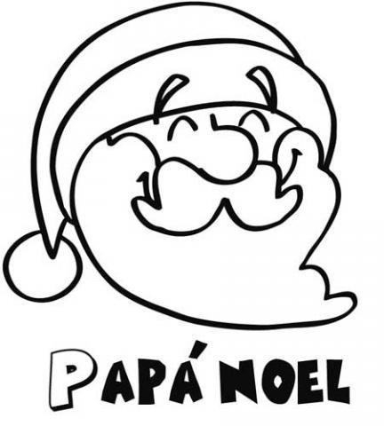 Papá Noel sonriente. Dibujo de Navidad para niños