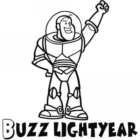 Dibujo de Buzz Lightyear para colorear por los niños