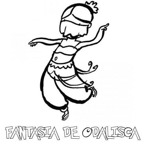 Desenho de fantasia de odalisca para pintar