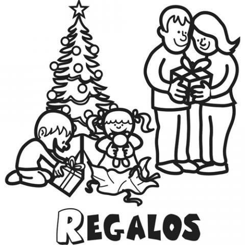 Dibujo de regalos de Navidad para pintar