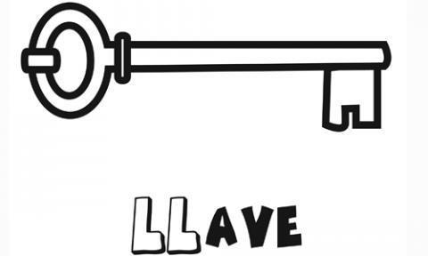 Dibujo de una llave para colorear. Imágenes gratis de objetos