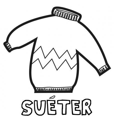 Desenho de suéter para pintar com as crianças