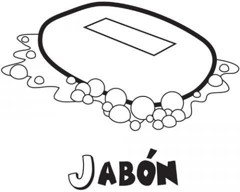 Dibujos Para Colorear De Jabón Dibujos De Objetos De Baño