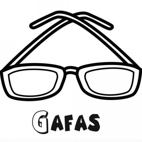 Dibujo para imprimir y colorear de unas gafas para niños