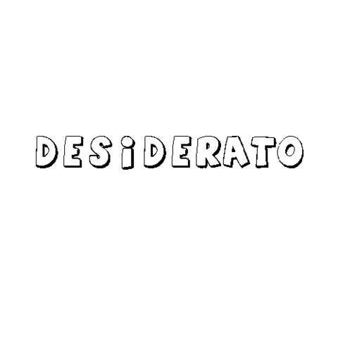 DESIDERATO