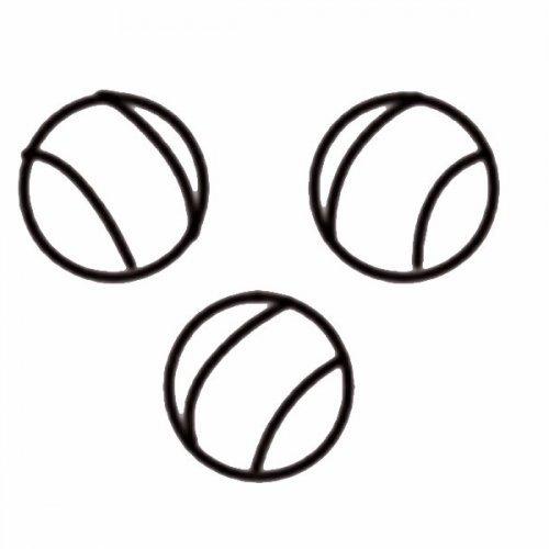Dibujo de pelotas de tenis para colorear con los niños