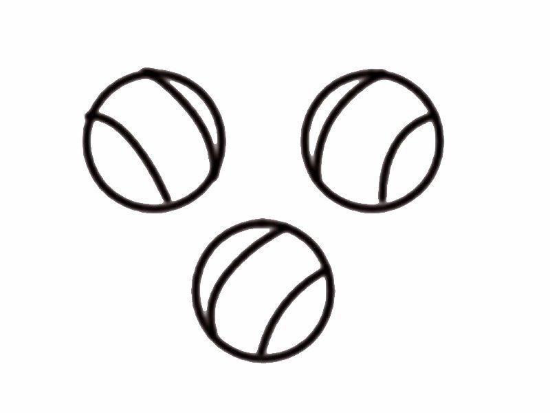 Para Los Pelotas Colorear De Niños Con Tenis Dibujo PXuiOZk