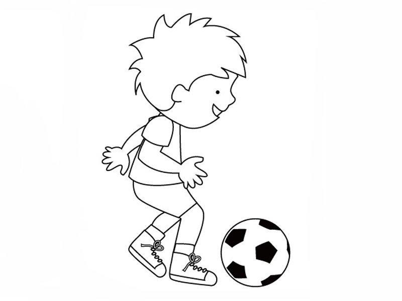 Niño dando toques al balón