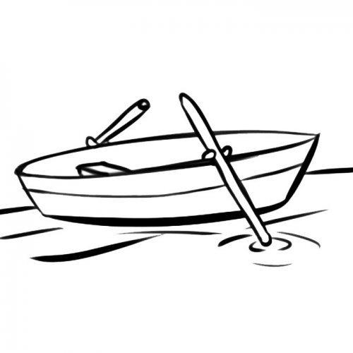Desenho de barco a remo para colorir