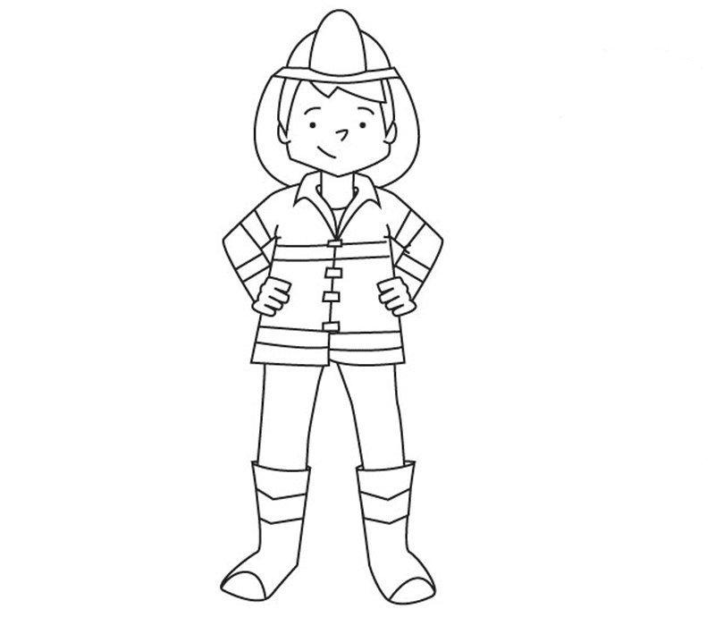 Desenho de bombeiro para imprimir