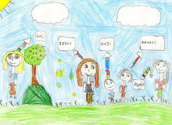 Dibujo de Irene, de 6 años
