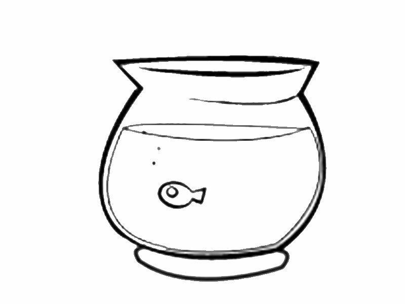 Pecera con pez pequeño