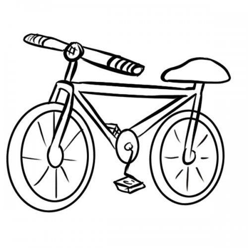 Desenho De Bicicleta Para Pintar Com As Criancas