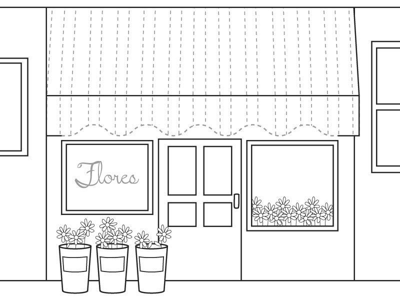 Escaparate de floristería