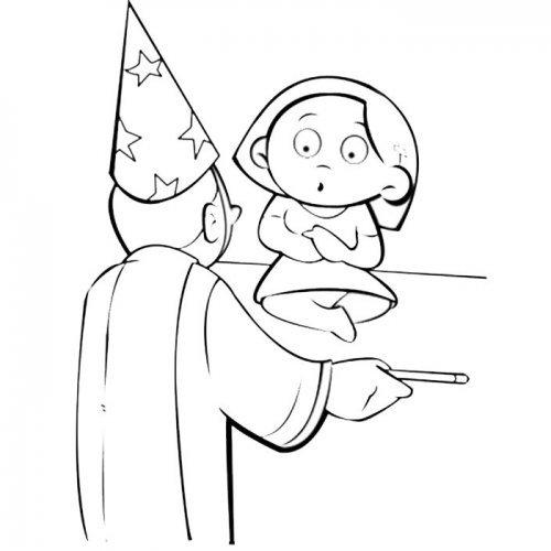 Niña y mago