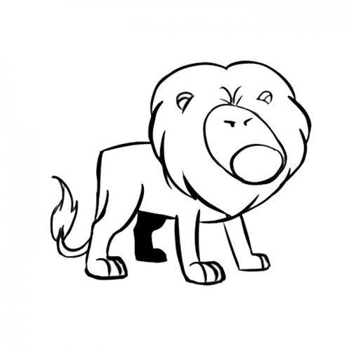 León enfadado