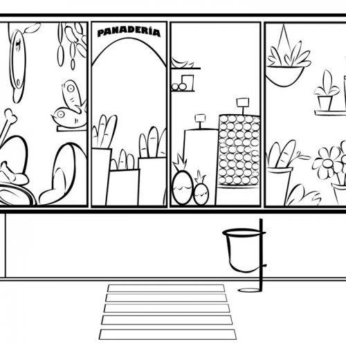 Dibujos Para Pintar De Tiendas Escaparate De Panadería