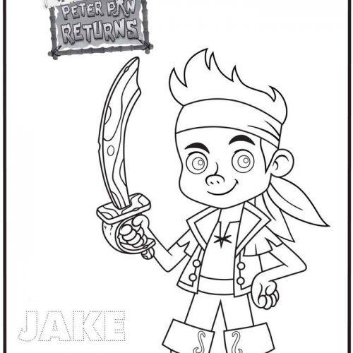Dibujo de Jake y los Piratas de Nunca Jamás para colorear