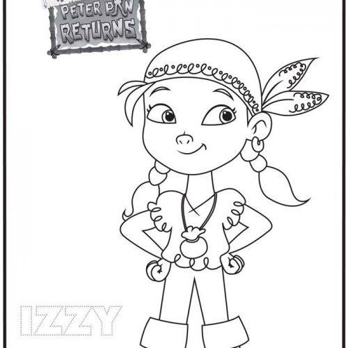Dibujo de Izzy. Colorea estos dibujos de Jake y los Piratas