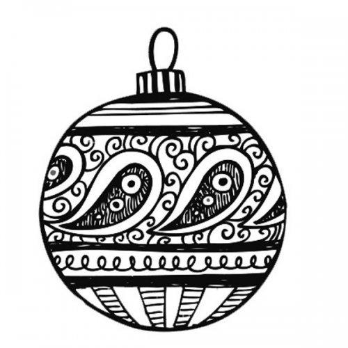 Bola de Natal original para pintar