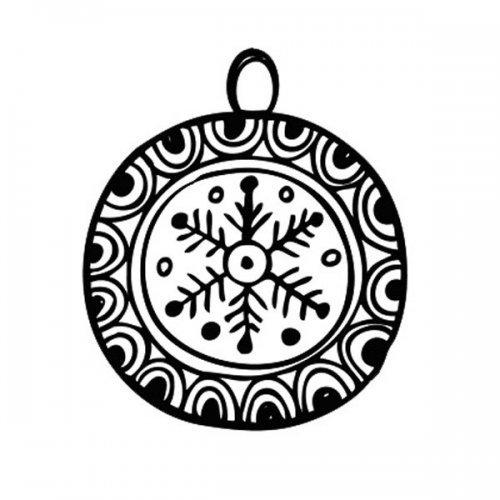 Bola de Natal para imprimir e colorir
