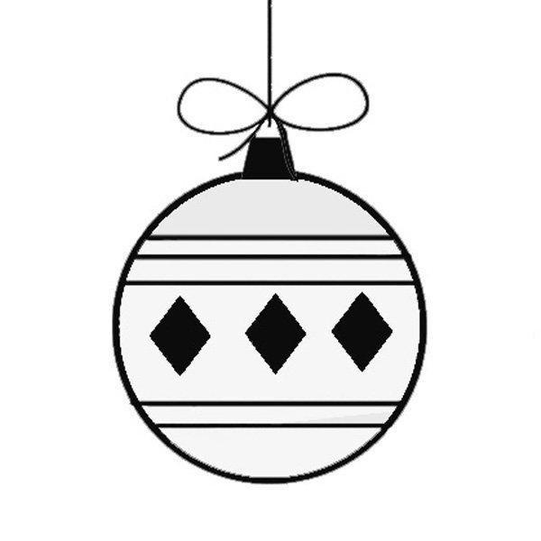 Bola de Natal. Desenho para pintar