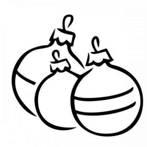 Desenho de bolas de Natal para pintar