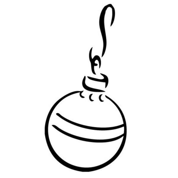 Desenho para pintar de bola de Natal