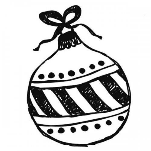 Desenho para imprimir de bola de Natal