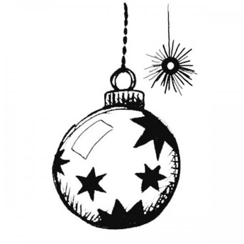 Desenho de bola natalina para pintar