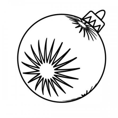 Desenho de bola de Natal para imprimir