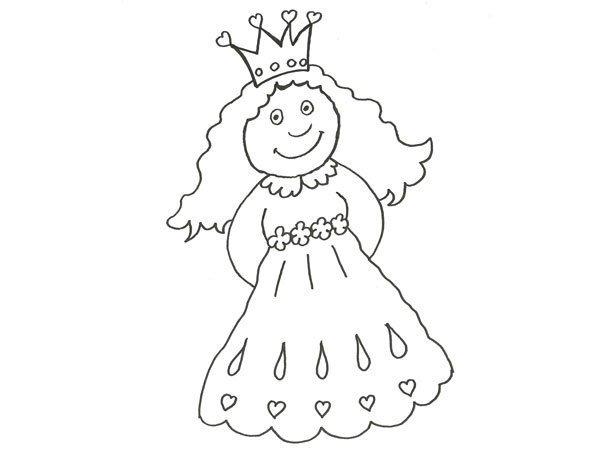 Uma Pequena Princesa Desenho Para Colorir