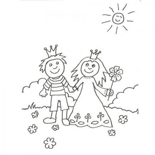desenho de pequeños príncipes para pintar