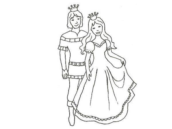 Desenho De Principes Para Imprimir E Pintar