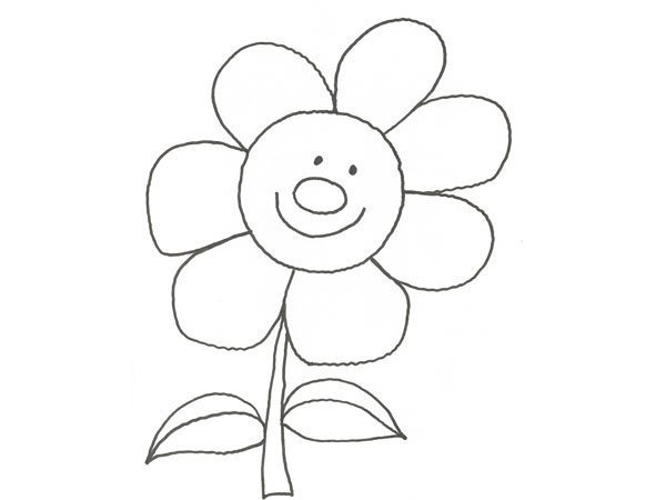 Desenho de uma flor para pintar