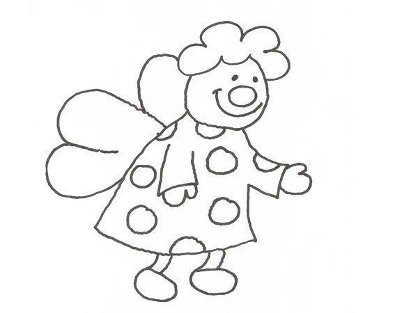 Desenho de fada divertida para pintar